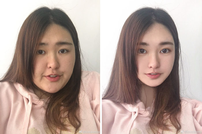 عکس زن خوشگل چینی با فوتوشاپ و بدون فوتوشاپ