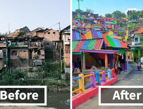 روستای رنگین کمان: از یک مخروبه تا یک منطقه توریستی