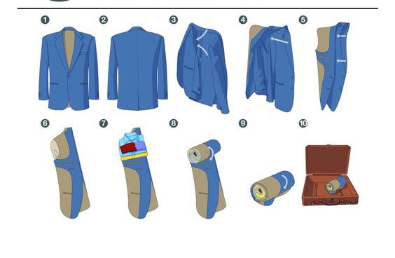 چگونه لباسهایمان را تا بزنیم