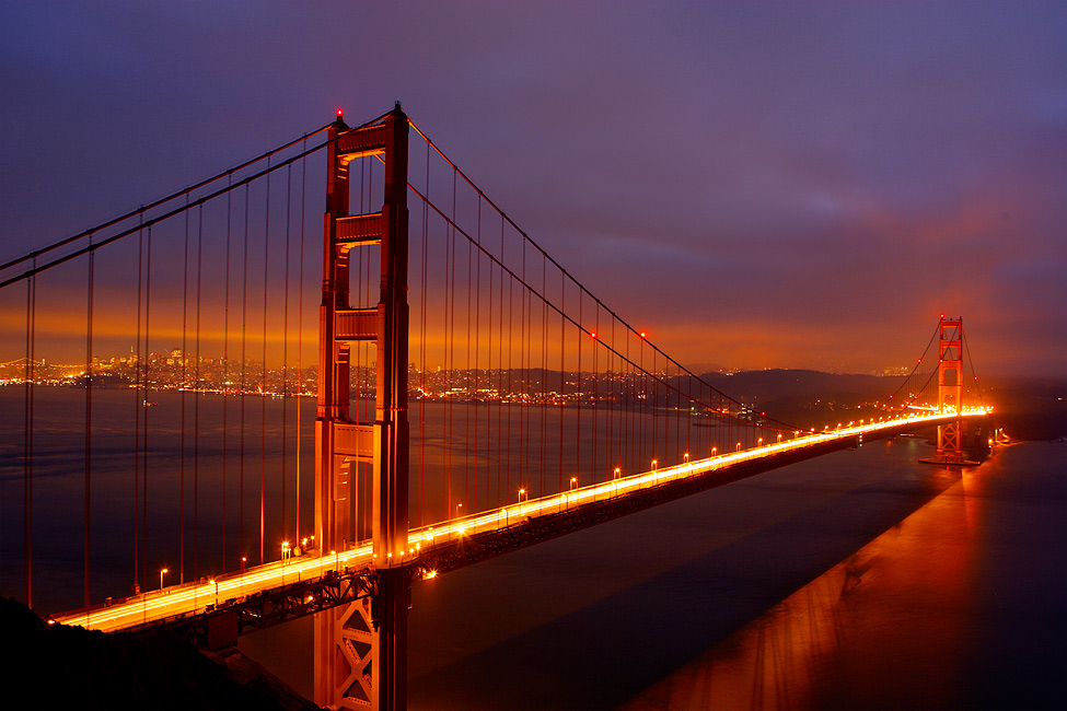 پل گلدن گیت (Golden Gate) (سان فرانسیسکو، ایالات متحده)