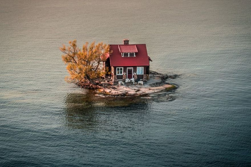 #5 Rising Waters : در ساحل اسکندریه بین نیویورک و کانادا، زمانی که سطح آب افزایش می یابد و رنگ های پاییز شروع به جلوه می کنند.