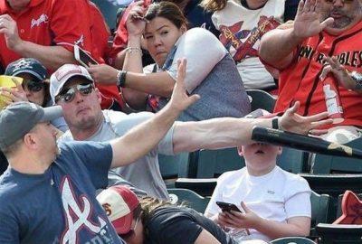 جلوگیری از اصابت چوب بیسبال