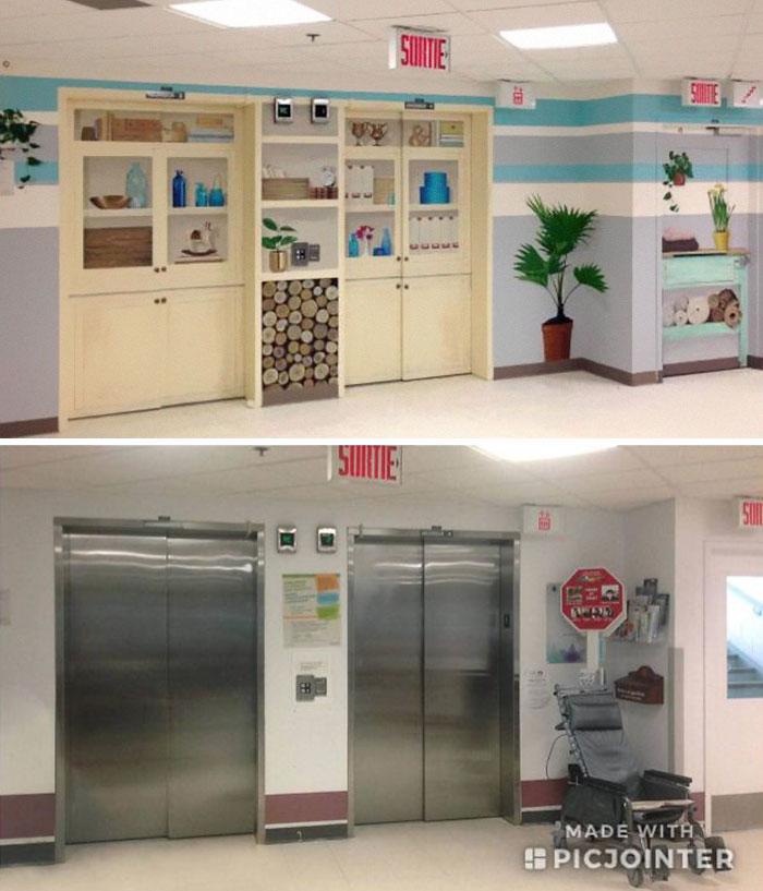 یک آسانسور قدیمی را به یک آسانسور زیبا برای بخش کودکان بیمارستان تبدیل کرده اند