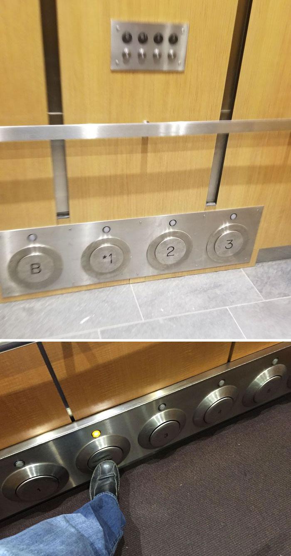 دکمه های پایی برای آسانسور. چقدر اینا واجب هست