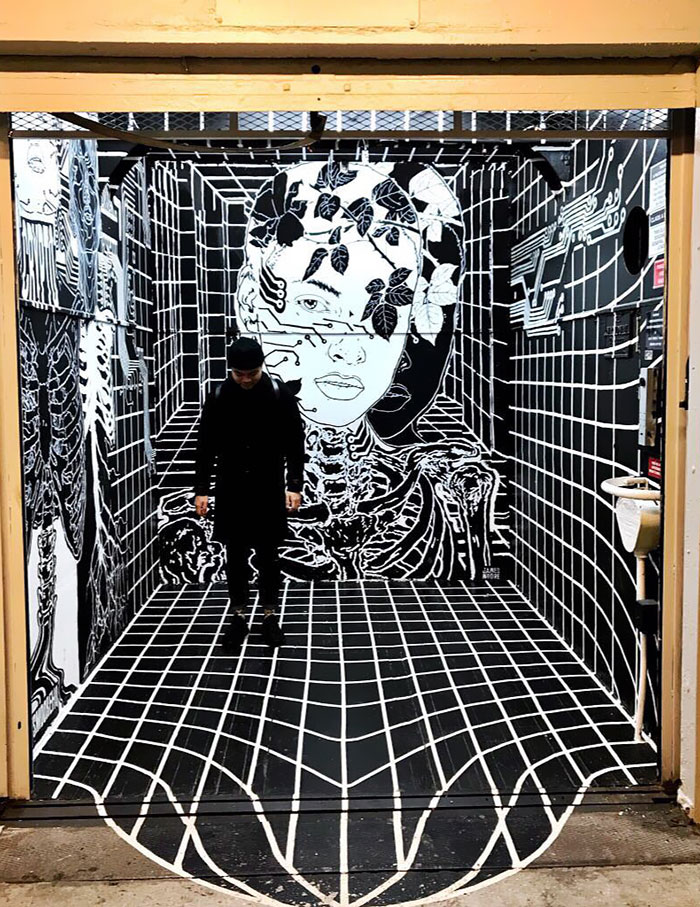 طراحی سه بعدی هنری برای آسانسور