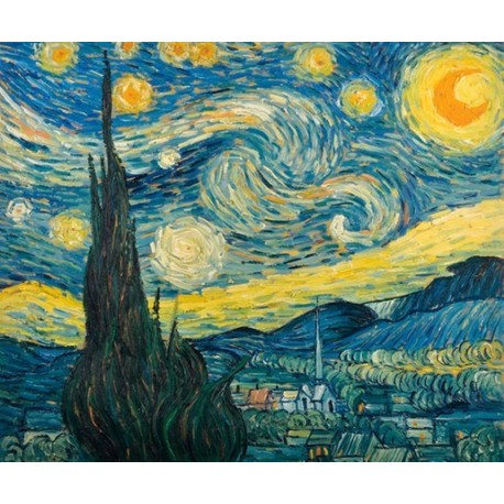 نقاشی شب پر ستاره