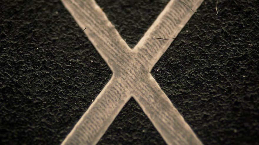 حرف ایکس کیبورد از نمای نزدیک