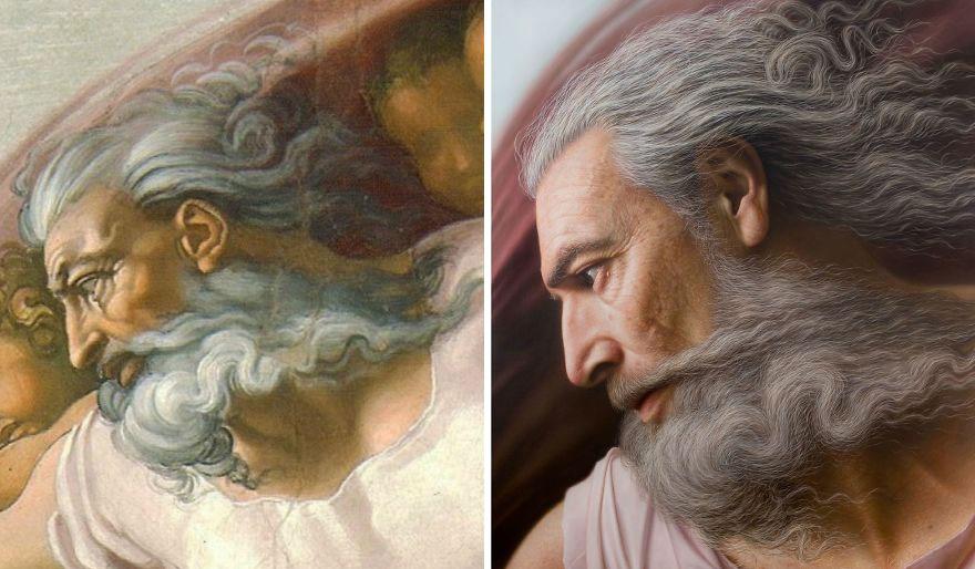 Michelangelo's God